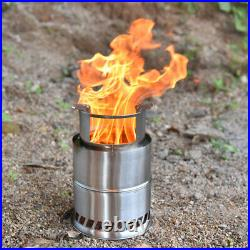 1 Set Light Weight Wood Burning Camping Stove Portable Camping Cooking Stove