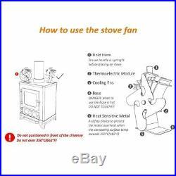 2017 New Design Eco Friendly Heat Powered Wood Burning Mini Stove Top Fan RF1