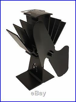 2019 2 blade heat powered stove fan Ecoflow log burner wood burning stove fan