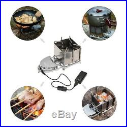 2X(BRS 6000W Outdoor Wood Stove Wood Burning Stove Foldable Firewood FurnacB4Y3)
