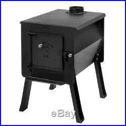 2.7 cu. Ft. Wood Burning Stove Camp Tent Firebox Heater Cooktop Cooker Chimney