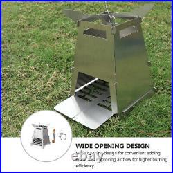 3pcs/set Folding Wood Burning Camping Stove Portable Camping Cooking Stove
