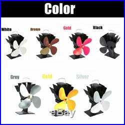 4 Blade Design Heat Powered Wood Burning Mini Stove Top Fan Eco Friendly 7 Color