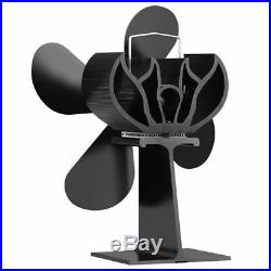 4 Blade Heat Powered Eco Friendly Fuel Saving Ultra Wood Burning Stove Top Fan