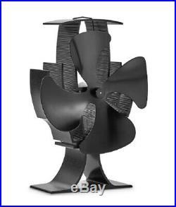 4 Blade Stove Fan Heat Burner Wood Log Burning Fans Eco Friendly Heater Blower