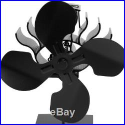 4 Blades Heat Powered Stove Fan Wood Burning Stove Fan Eco Stove Top Fan