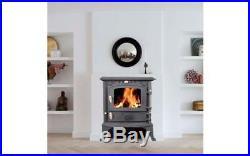 5.5KW Cast Iron Log Woodburner Stove Multifuel Fire Wood Burner Coal Woodburning