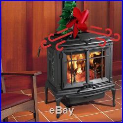 5 Blade Heat Powered Stove Top Fan Wood Log Fireplace Burning Ecofan 158-464°F