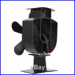 5 Blade Heat Powered Wood Stove Fan 1100rpm Ultra Quiet Fireplace Wood Burning E