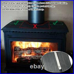 5 Blades Wood Burning Stove Fireplace Fan Heat Powered Heated Air Eco Stove Fan