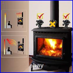 5 Blades Wood Burning Stove Fireplace Fan Improved Pybbo Silent Motors Heat Po