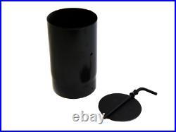 5 or 6 Damper Unit for Woodburning or Multi Fuel Stoves Matt Black