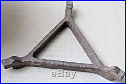 Antique CI FIRE PIT stove Sigri & stand for pot Wood COAL burning FUEL Portable