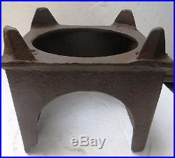 Antique Cast Iron wood burning industrial use stove with cast iron pot Rare