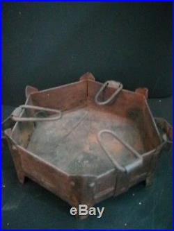 Antique Cooking Coal Wood Burning Fire Pit Sigri stove made of heavy iron sheet