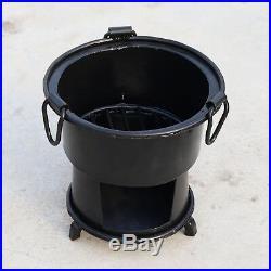 Antique Iron wood Coal burning Kitchen use stove Sigri Fire pit Portable India