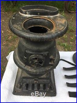 Atlanta Stove Works 40 Conestoga 1889 Coal/Wood Burning Cast Iron Potbelly Stove