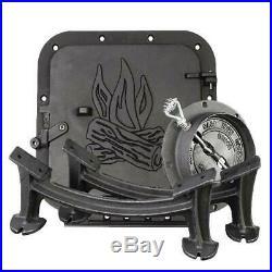 BARREL STOVE KIT Cast Iron Wood Burning Drum Heater Part Flue Collar Damper