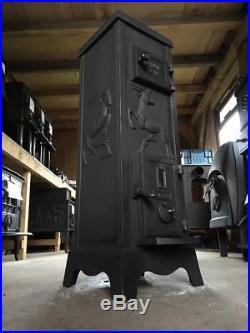 Bærums Verk 312 Cast Iron Multi Fuel Burning Stove Black Rear Flue Exit #18
