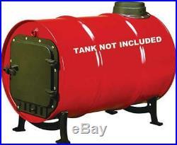 Barrel Stove Kit Cast Iron Heater Wood Burning 55 Gallon Drum Cabin Barn Shop US