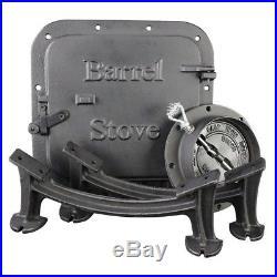Barrel Stove Kit Drum Wood Burning Heater Converting Cabin