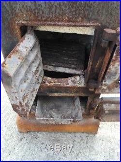 Bjorn Cast Iron Multi Fuel Burning Project Stove Rear Flue Exit #4