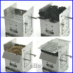 Bushcraft Camp Stove Kit Wood Burning/Multi Fuel Collapsible/Folding Portable