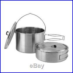 CAMPFIRE by Solo Stove Combo Kit twig burning gasifier Jumbo Stove & 2 Pot Set