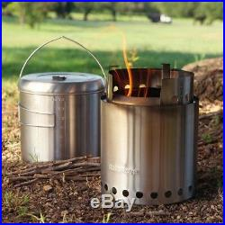 CAMPFIRE by Solo Stove NEWEST Kit twig burning gasifier Jumbo Stove & Pot 4000