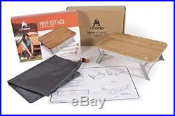 Compact Wood Burning Stove & Prep Surface Bundle/Day Camping/Tailgating/Kitch
