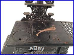 Crescent Wood Burning Stove Antique Cast Iron Salesman Sample Rare Large Size