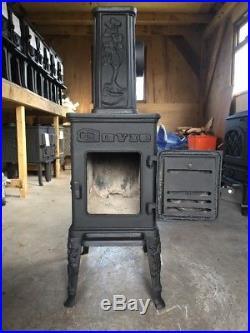 Dovre 100 Classic Cast Iron Wood Burning Stove Black Finish Right Flue Exit #15