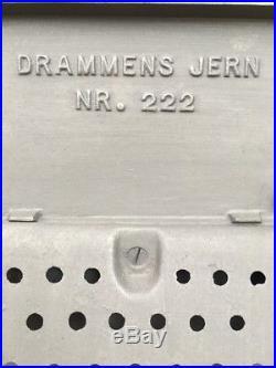 Drammens Jern Kubben 222 Cast Iron Wood Burning Stove Black Rear Flue Exit
