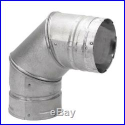 DuraVent Pellet Vent Wood Fuel Burning Chimney Wall Stove 4 in. 90 Elbow Pipe