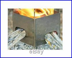 Firebox Bushcraft Camp Stove Kit Stainless Steel Wood Burning Multi Fuel Folding