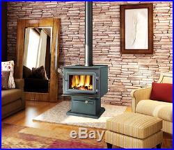 Flame XTD 1.9 Large Steel Wood Burning Stove 75,000 BTU's Free Standing FL045W