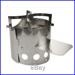 Foldable Stainless Steel Wood Stove Outdoor Wood Burning Camping Stove