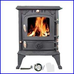 Foxhunter Hillford 5.5KW Cast Iron Log Burner Traditional Wood Burning Stove