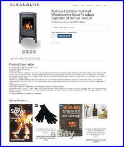 Fully Stocked WOOD BURNING STOVE Website BusinessFREE DomainHostingTraffic