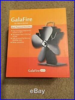 GalaFire Silent Heat Powered Wood Stove Fan for Pellet / Wood Burning Stove Log