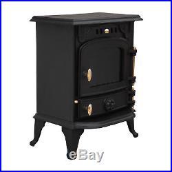 Harmston 5.5KW Multifuel Cast Iron Log Burner Wood Burning Stove Fireplace New