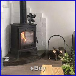 Heat Powered 4 Blade Eco Friendly Fuel Saving Wood Burning Stove Top Fan +GIFT