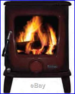 Heritage Ashford 7.5kW Stove Multi Fuel New Wood Burning Fire Enamel Red