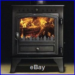 Hunter Herald 4 Double Door Flat Top Stove Multi Fuel New Wood Burning Fire