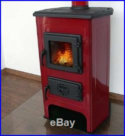 - JS Red Enamel 11kW Woodburning Stove Free Delivery to UK Mainland