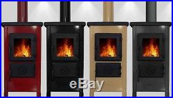 - JS Red Enamel 5.4kW Woodburning Stove Free Delivery to UK Mainland