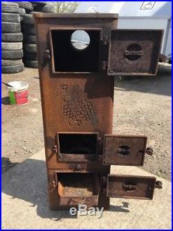 Jotul 505 Classic Cast Iron Multi Fuel Burning Project Stove Rear Flue Exit #5