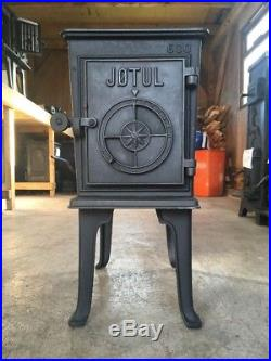 Jotul 600 Classic Cast Iron Wood Burning Stove Black Finish Rear Flue Exit #8