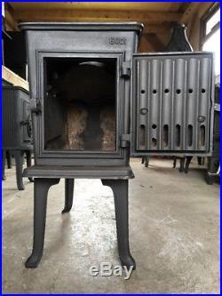 Jotul 602 Classic Cast Iron Wood Burning Stove Black Finish Top Flue Exit #27