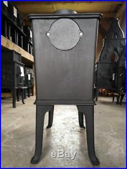 Jotul 602 Classic Cast Iron Wood Burning Stove Black Finish Top Flue Exit #28